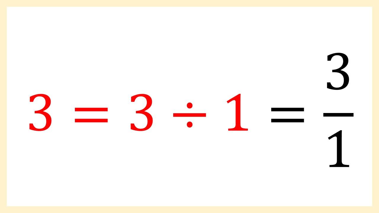 3の分数化