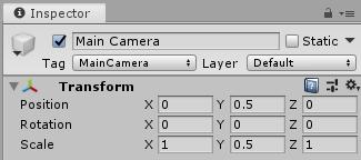 Main Cameraの設定